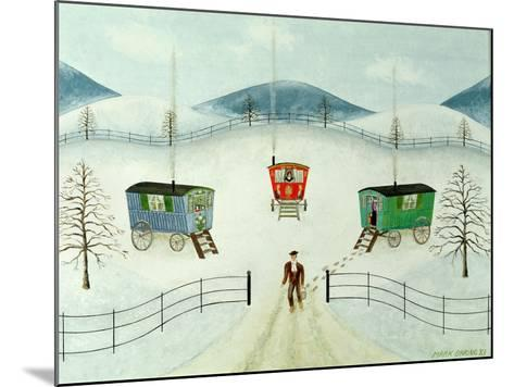 Gypsy Caravans in the Snow, 1981-Mark Baring-Mounted Giclee Print