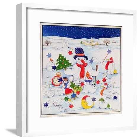 Snowman and Friends-Christian Kaempf-Framed Art Print