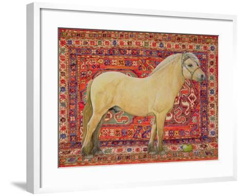 The Carpet Horse-Ditz-Framed Art Print