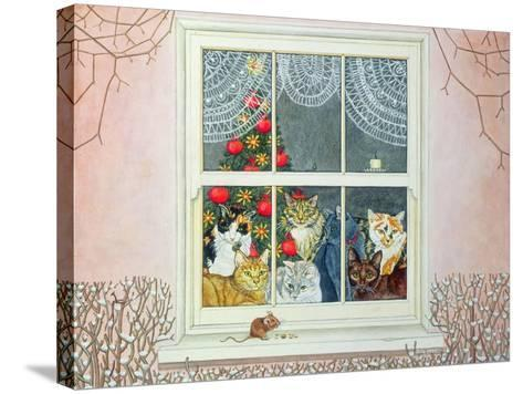 The Christmas-Mouse-Ditz-Stretched Canvas Print