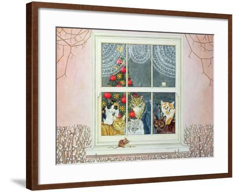The Christmas-Mouse-Ditz-Framed Art Print