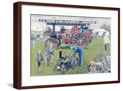 Traction Engines at the Show, 1993-Huw S. Parsons-Framed Art Print