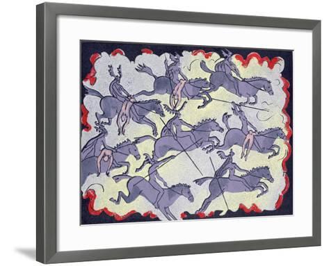 "Ride of Valkyries, Wotan's Warrior Daughters; ""Hoyotoho!"": Illustration for 'Die Walkure'-Phil Redford-Framed Art Print"