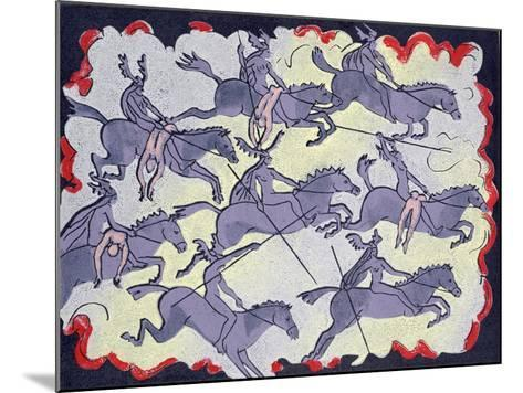 """Ride of Valkyries, Wotan's Warrior Daughters; """"Hoyotoho!"""": Illustration for 'Die Walkure'-Phil Redford-Mounted Giclee Print"""