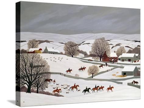 Riding in the Snow-Vincent Haddelsey-Stretched Canvas Print