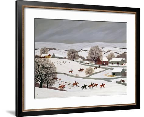 Riding in the Snow-Vincent Haddelsey-Framed Art Print