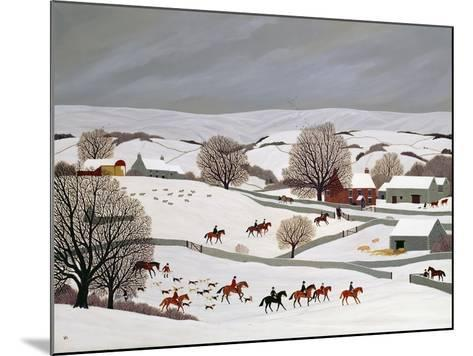 Riding in the Snow-Vincent Haddelsey-Mounted Giclee Print
