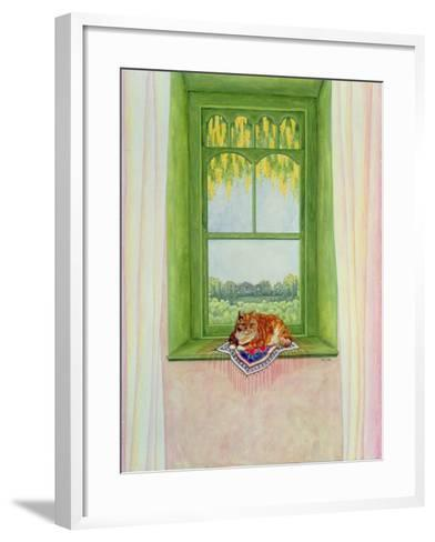 Laburnum Cat-Ditz-Framed Art Print