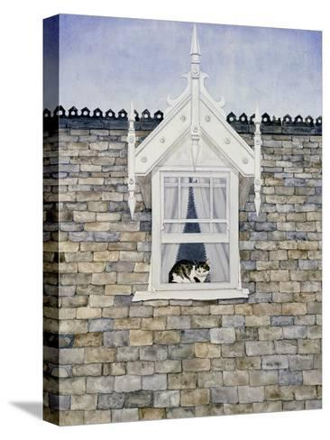 St.Helier Dormer Cat-Ditz-Stretched Canvas Print