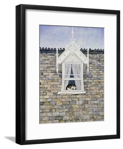 St.Helier Dormer Cat-Ditz-Framed Art Print