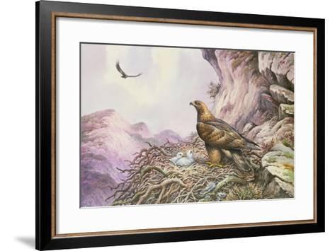 Golden Eagles at their Eyrie-Carl Donner-Framed Art Print