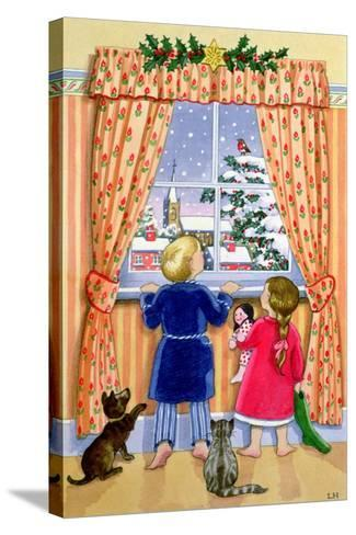 Seeing the Snow-Lavinia Hamer-Stretched Canvas Print