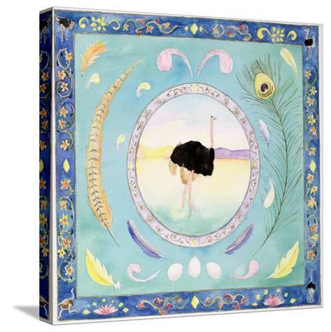Ostrich (Month of August from a Calendar)-Vivika Alexander-Stretched Canvas Print