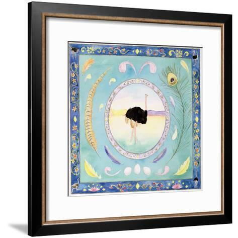 Ostrich (Month of August from a Calendar)-Vivika Alexander-Framed Art Print