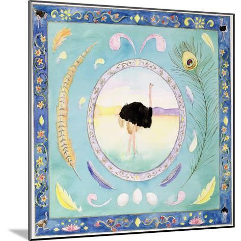 Ostrich (Month of August from a Calendar)-Vivika Alexander-Mounted Giclee Print