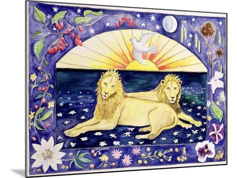 Lions (Month of December from a Calendar)-Vivika Alexander-Mounted Giclee Print