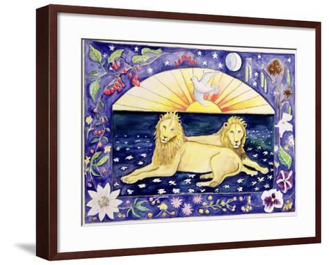 Lions (Month of December from a Calendar)-Vivika Alexander-Framed Art Print