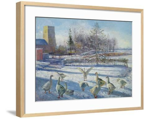 Snow Geese, Winter Morning-Timothy Easton-Framed Art Print