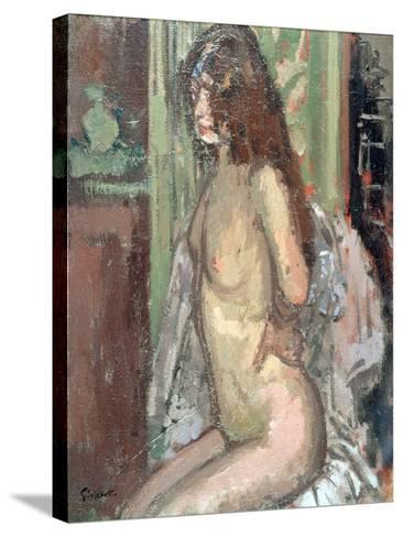 Seated Nude, Paris, 1906-Walter Richard Sickert-Stretched Canvas Print