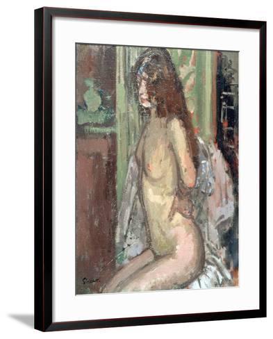 Seated Nude, Paris, 1906-Walter Richard Sickert-Framed Art Print