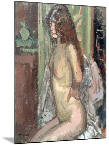 Seated Nude, Paris, 1906-Walter Richard Sickert-Mounted Giclee Print