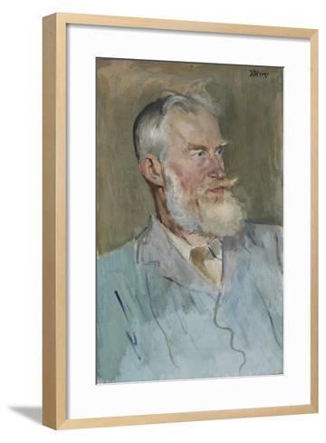 Portrait of George Bernard Shaw (1856-1950), 1915-Augustus Edwin John-Framed Art Print