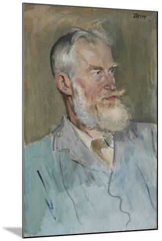 Portrait of George Bernard Shaw (1856-1950), 1915-Augustus Edwin John-Mounted Giclee Print