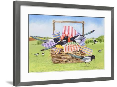 Magpies, 1990-E.B. Watts-Framed Art Print