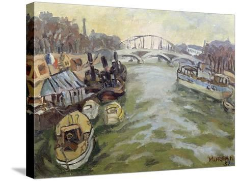 The Seine at Paris, 1951-Glyn Morgan-Stretched Canvas Print