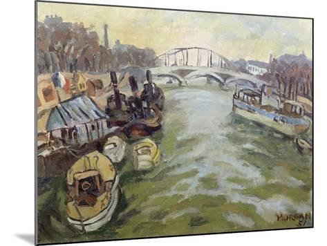 The Seine at Paris, 1951-Glyn Morgan-Mounted Giclee Print