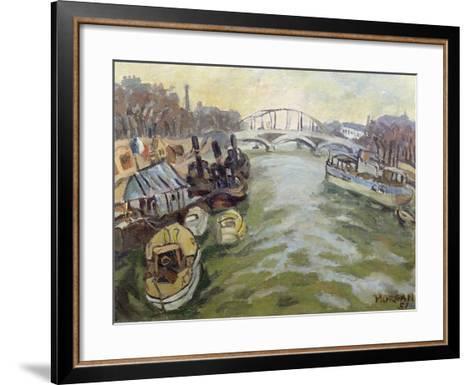 The Seine at Paris, 1951-Glyn Morgan-Framed Art Print
