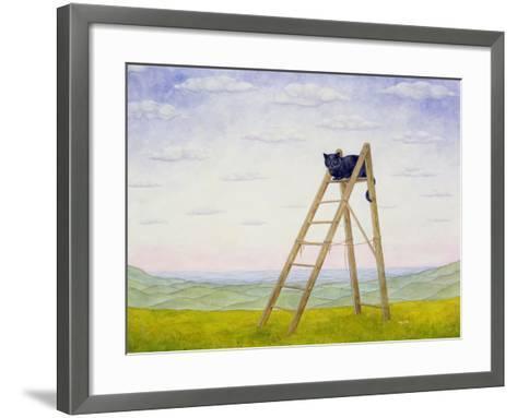 The Ladder Cat-Ditz-Framed Art Print