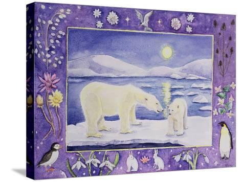 Polar Bear (Month of January from a Calendar)-Vivika Alexander-Stretched Canvas Print