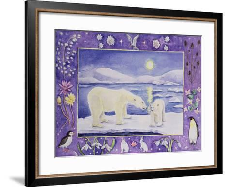 Polar Bear (Month of January from a Calendar)-Vivika Alexander-Framed Art Print
