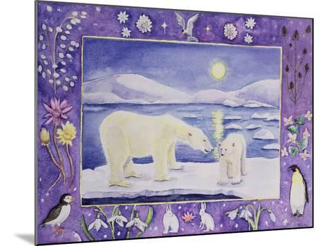 Polar Bear (Month of January from a Calendar)-Vivika Alexander-Mounted Giclee Print