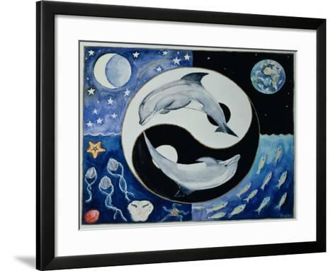 Dolphins (Month of May from a Calendar)-Vivika Alexander-Framed Art Print
