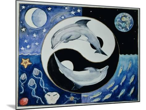 Dolphins (Month of May from a Calendar)-Vivika Alexander-Mounted Giclee Print