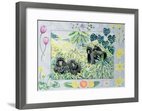 Mountain Gorillas (Month of March from a Calendar)-Vivika Alexander-Framed Art Print