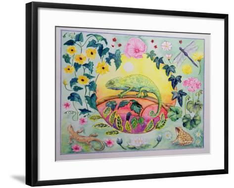 Chameleon (Month of June from a Calendar)-Vivika Alexander-Framed Art Print