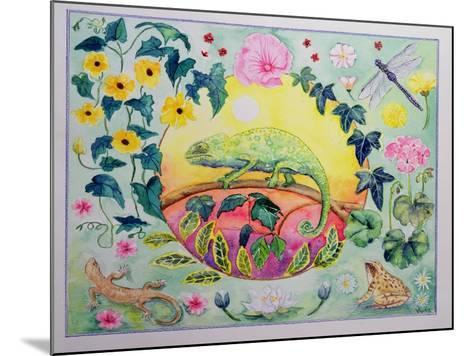 Chameleon (Month of June from a Calendar)-Vivika Alexander-Mounted Giclee Print