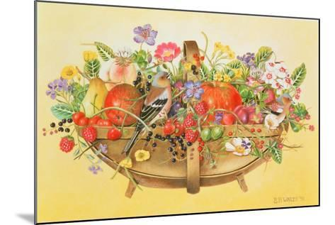 Trug with Fruit, Flowers and Chaffinches, 1991-E.B. Watts-Mounted Giclee Print