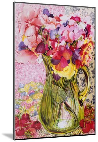 Sweet Peas with Cherries and Strawberries-Joan Thewsey-Mounted Giclee Print