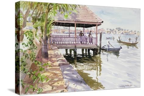 The Jetty, Cochin, 1991-Lucy Willis-Stretched Canvas Print
