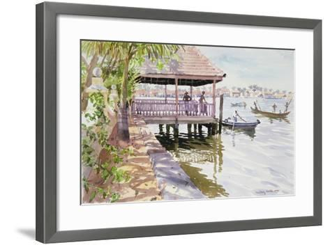 The Jetty, Cochin, 1991-Lucy Willis-Framed Art Print