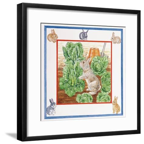 A Rabbit in the Cabbage Patch-Catherine Bradbury-Framed Art Print