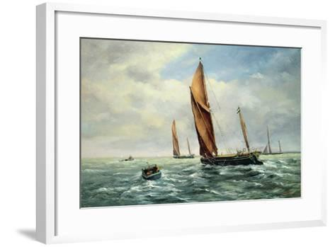 Sailing Barges Racing on the Medway-Vic Trevett-Framed Art Print