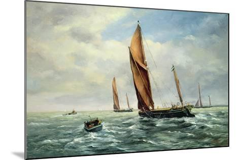 Sailing Barges Racing on the Medway-Vic Trevett-Mounted Giclee Print