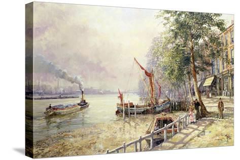Quayside, Cheyne Walk, Chelsea-John Sutton-Stretched Canvas Print