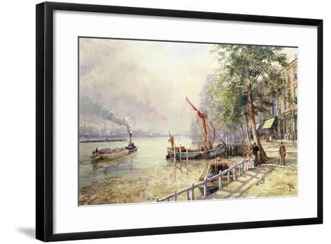 Quayside, Cheyne Walk, Chelsea-John Sutton-Framed Art Print