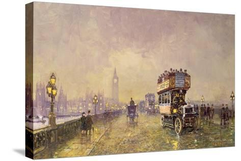 Going Home, Westminster Bridge-John Sutton-Stretched Canvas Print